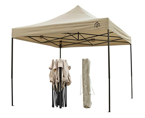AllSeasonsGazebos Choice Of Colours, 3x3m Heavy Duty, Fully Waterproof, PVC Coated, Premium Pop Up Gazebo, Wheeled carry bag + 4 Leg Weight Bags