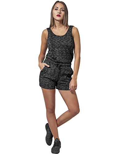 Urban Classics Damen Jumpsuit Ladies Melange Hot, Mehrfarbig (Darkgrey/Grey 488) - 2