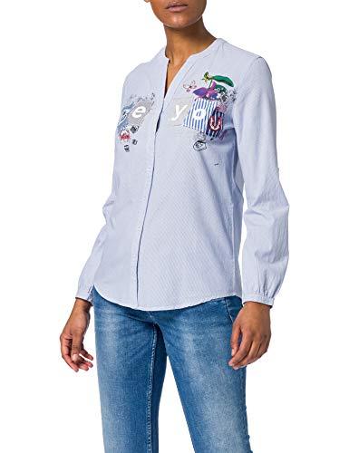 Desigual CAM_BEYOU Camiseta, Azul, M para Mujer