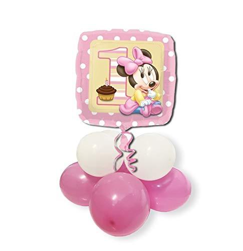 ana gram Minnie Balloons Baby DIY centros de Mesa