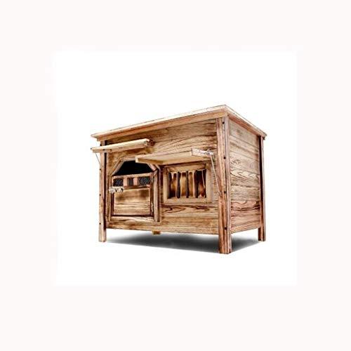 Porte moyenne avec fenêtre extérieure intérieure plat top charbon de bois niche en bois chien maison chat litière chien cage nid pour animaux de compagnie chien maison animal domestique chien chenil