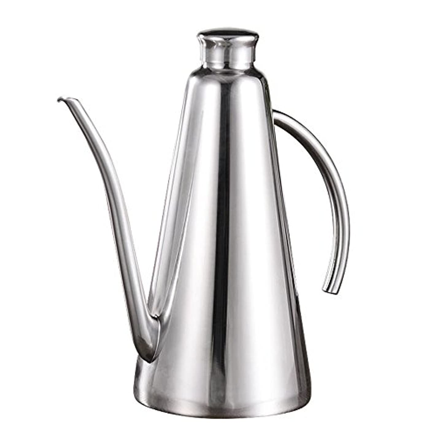 MyLifeUNIT 1 Quart Olive Oil Dispenser, Stainless Steel Olive Oil Can Drizzler with Drip-free Spout