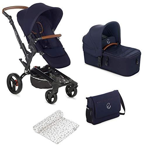 Jané Rider - Cochecito de bebe 2 piezas, capazo plegable y silla de paseo, con bolso y plástico de lluvia, plegado compacto, hamaca reversible, unisex