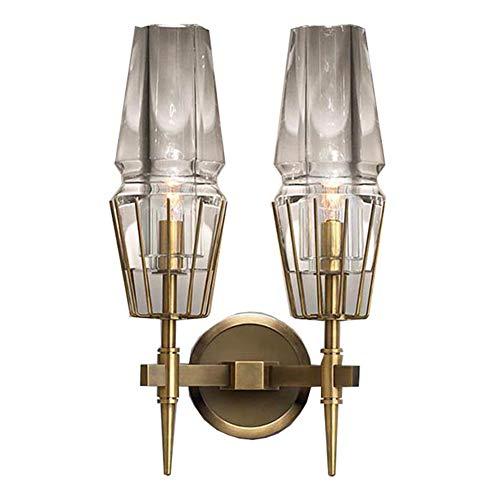 Eleyho Lichtgewicht wandlamp Industrial Veranda geschenk licht met glazen scherm voor slaapkamer, woonkamer, eetkamer, hal, hal