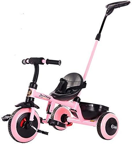 Minmin-chezi Kinder Dreirad Fahrrad Kinderwagen 1-5 Jahre alt Kind Fahrrad Licht Kind Kinderwagen Spielzeugauto