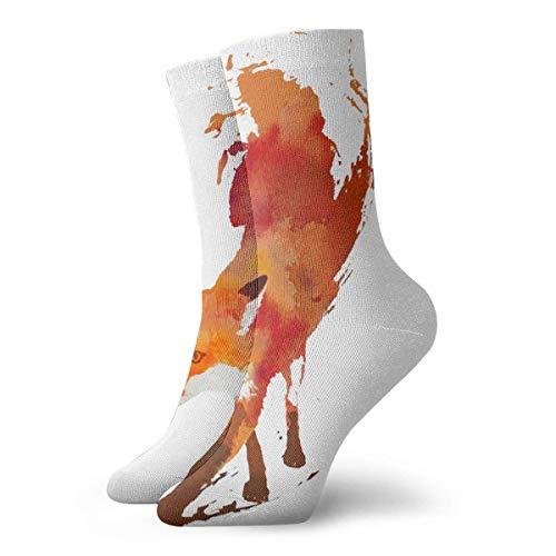 N/A Anzug-Socken,Business Socken,High Performance Tennissocken,Sport/Sneaker Socken,Red Fox Painting Gedruckte Feuchtigkeitskontrolle Laufsocken Langlebige Atmungsaktive Trainingssocken