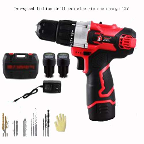 Great Features Of Electric Drill Home Multi-function Rechargeable Screwdriver Pistol Drill Electric ...