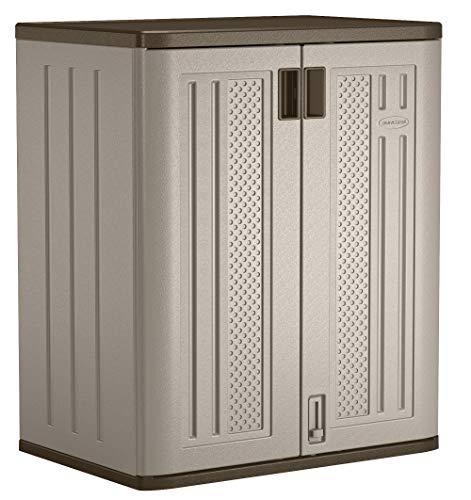 Suncast 36' Resin Base Garage Storage Cabinet, Platinum
