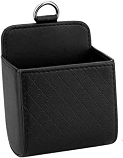 XQRYUB Auto Vent Outlet Trash Box PU Leather Car Mobile Phone Holder Storage Bag Organizer Automobile Hanging Box Car Styling