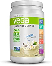Vega Essentials Protein Powder, Vanilla, Plant Based Protein Powder Plus Vitamins, Minerals and Antioxidants - Vegan, Vegetarian, Keto-Friendly, Gluten Free, Dairy Free - 18 Servings, 1.37 lbs