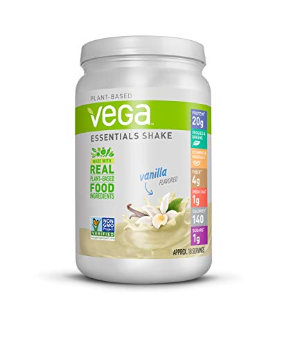 Vega Essentials Protein Powder, Vanilla, Plant Based Protein...
