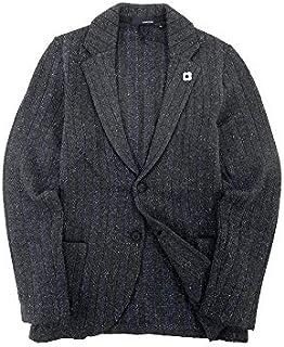 【アウトレット品】 [ラルディーニ] ニットジャケット 2B コーデュロイ アンコン イタリア製 ネイビー XXS