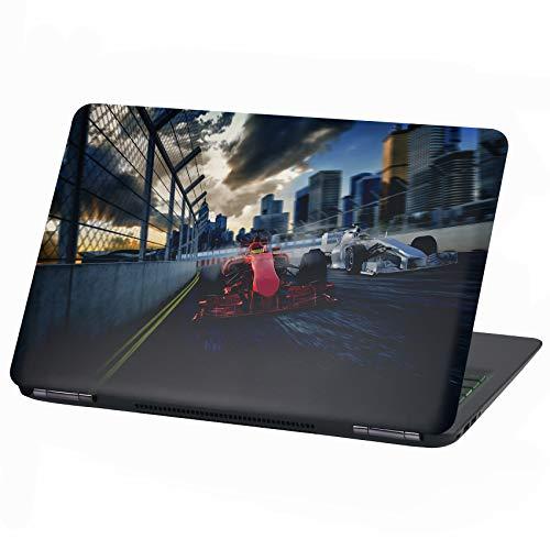 Laptop Folie Cover: Fahrzeuge Klebefolie Notebook Aufkleber Schutzhülle selbstklebend Vinyl Skin Sticker (13-14 Zoll, LP3 Formel Rennwagen)