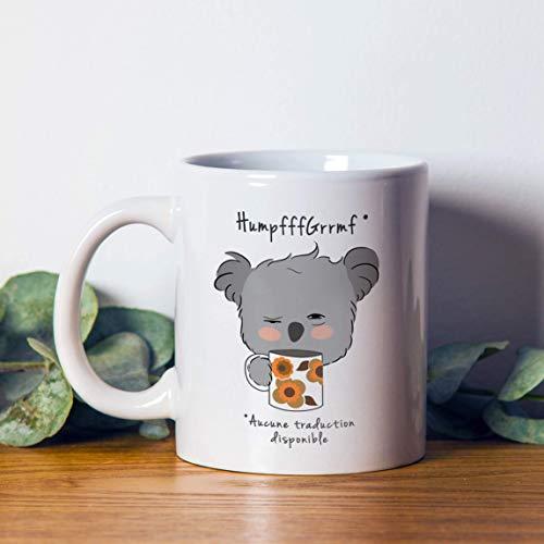 N\A Reserva Taza de cerámica Blanca Koala Quothumpfrquot