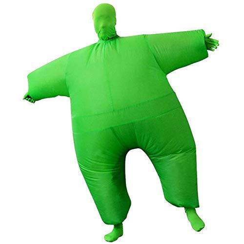 WANGIRL Aufblasbarer Anzug Sumo Ringer Aufblasbares Fett Dick Kleid Fasching Karneval Kostüm Halloween Fancy Dress Cosplay Party Outfit Neuheit Spielzeug für Erwachsene Kleider (Color : Green)