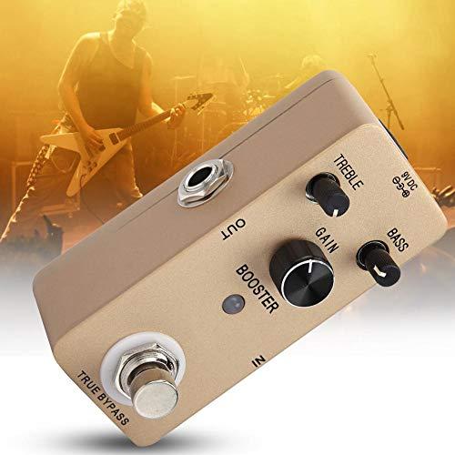 Bypass-Pedalschalter für Gitarreneffektpedale, Power Soun Buffer-Effektpedal, Pure Gain Metal Shell für leidenschaftliche E-Gitarren-Musiker