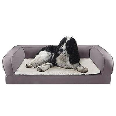 Cama ortopédica para perros con espuma de memoria ayuda a proteger las articulaciones y promueve un sueño reparador