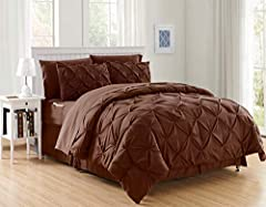 """King/California King Size Luxury 8-Piece Set Dimensions: (1) Comforter: 102"""" X 86"""" -- (1) Bed Skirt: 78"""" X 80"""" - (2) Pillow Shams: 20""""X 36"""" - (1) Flat Sheet: 102"""" X 105 -- (1) Fitted Sheet: 78"""" X 80"""" - (2) Pillowcases: 20""""X 40"""" - Fits for both King S..."""