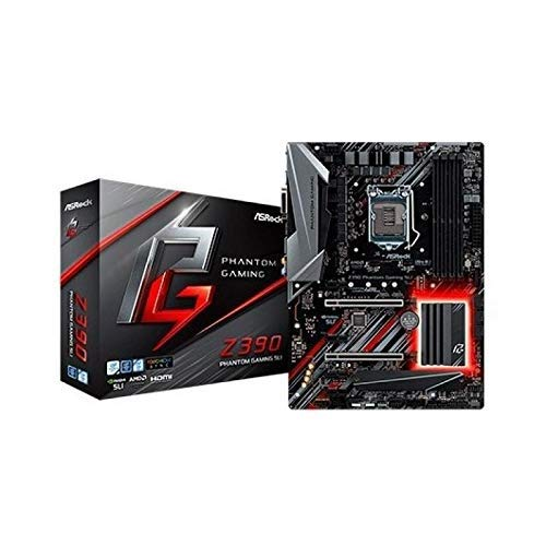 ASRock Z390 Phantom Gaming SLI Mainboard, Socket 1151, RGB-LED Motherboard, ATX, mattschwarz
