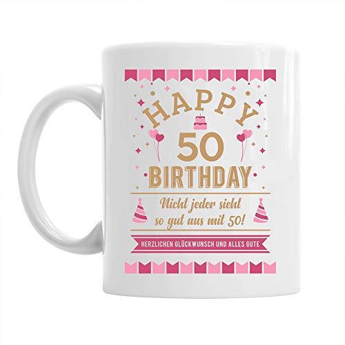 Design, Invent, Print! Tasse zum 50. Geburtstag - passend für Frauen - witzige Geschenkidee - Weiß - ca. 285 ml (10 oz)