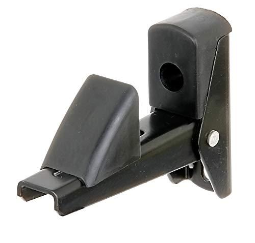 GAH-ALBERTS 307752 Noir Arrêt de volet et de Porte | Aluminium, laqué butée décartement-Plaque 15-50 mm