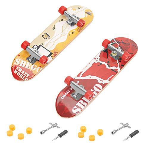 CS COSDDI 2 Stück Finger Skateboard Mini Griffbrett Mini Fingerboards Skatepark Spielzeug für Kinder als Geburtstag Geschenk (Zufällige Farbe)