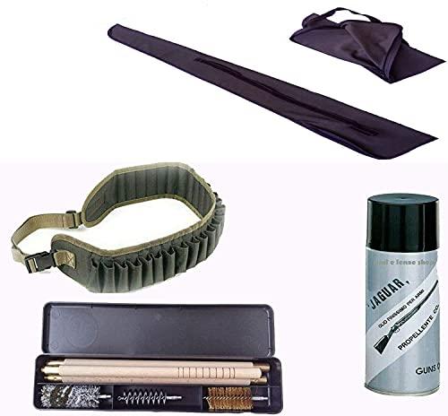 Generico Kit Pulizia Fucile Fodero Olio per Armi da Caccia Cartuccera Cal. 12 Caccia