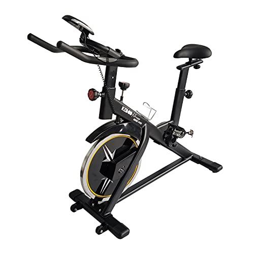Bicicleta Spinning Estática Keboo Serie 900, Volante de Inercia 18 kg, 7 Programas, Asiento y Manillar Ajustable y Pantalla LCD