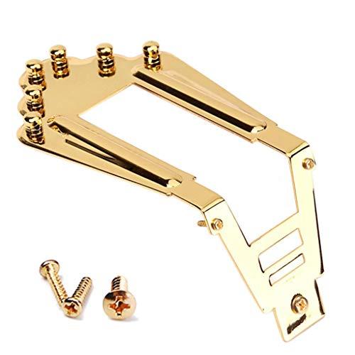 Instrumento de orquesta, dezirZJjx soporte, puente para guitarra estilo gitano Jazz guitarra acústica puente instrumentos musicales partes – dorado