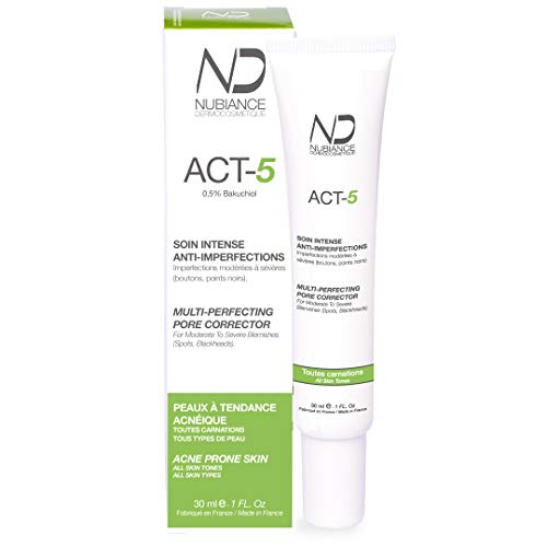 Trattamento per l'acne, crema per il viso contro l'acne, anti-acne, cura intensa anti-imperfezioni ACT-5-30ml, pelle a tendenza acneica, per adolescenti e adulti MADE IN FRANCE