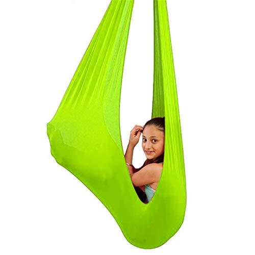 ZCXBHD Hamaca colgante para niños y adultos con capacidad de carga de 200 kg reversible terapia columpio sensorial interior para niños y adultos con necesidades especiales