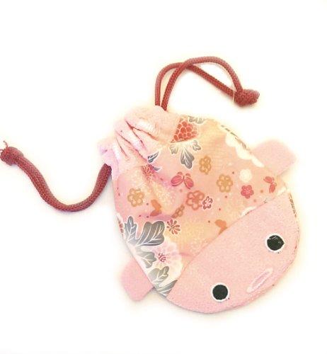 Japanese Chirimen Goldfish Cellphone Purse Cosmetic Bag (Large, Pink) by CGDJ