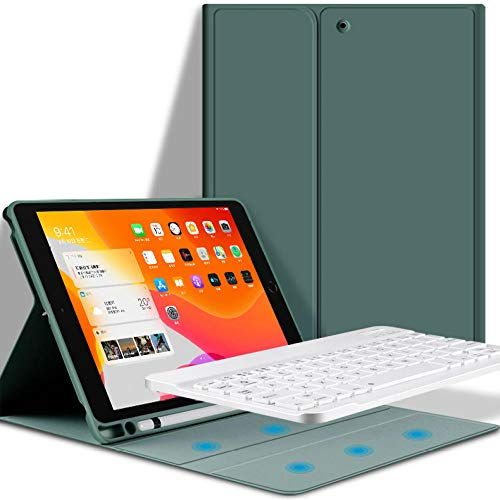 Slim Cover for iPad Air 3 2019 Keyboard Case with Pencil Holder Bluetooth Keyboard Case for iPad Pro 10. 5 2017 Funda Capa Coque-Dark Green 1_For iPad Pro 10.5