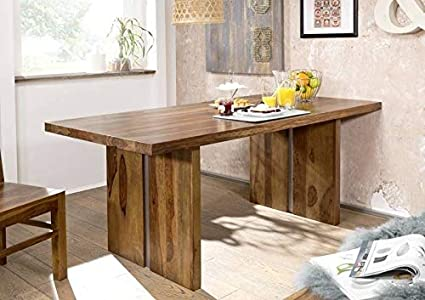 G Fine Furniture Wooden 6 Seater Dining Table Only Table For Kitchen Office Boss Table Sheesham Wood Natural Honey Finish Amazon In Home Kitchen