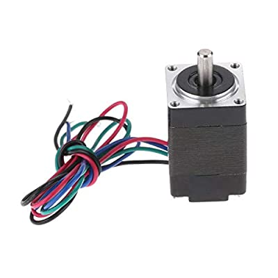 "1Pc Nema 8 Stepper Motor,20x20x30mm,1.8 Deg,0.6A,2 Phase,4-Lead,1.76N.cm (2.5oz.in) Holding Torque with 12"" Cable for 3D Printer"