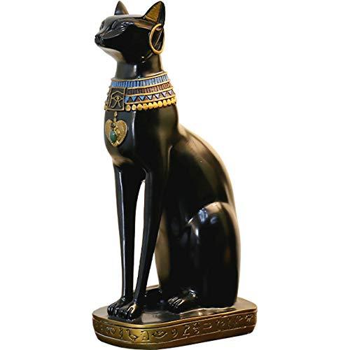 ZAAQ Estatua Adornos Decorativas del hogar Europea Retro Besty Cat Estatua Personalidad Resina Artesanía Sala de Estar TV Gabinete Decoración 37cm