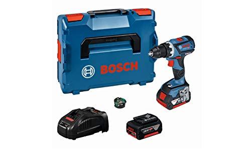Bosch Professional 18V Akkuschrauber GSR 18V-60 C 2x 5,0 Ah Akku Schnellladegerät Bluetooth-Modul L-BOXX (18 Volt Max. Drehmoment: 60 Nm max. Schrauben-Ø: 10 mm Connectivity-Funktion)