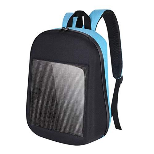 Générique Homyl LED Sac à Dos pour Ordinateur Portable, Sac à Dos Multifonctionnel, Écran D'affichage Intégré, Étanche - Bleu