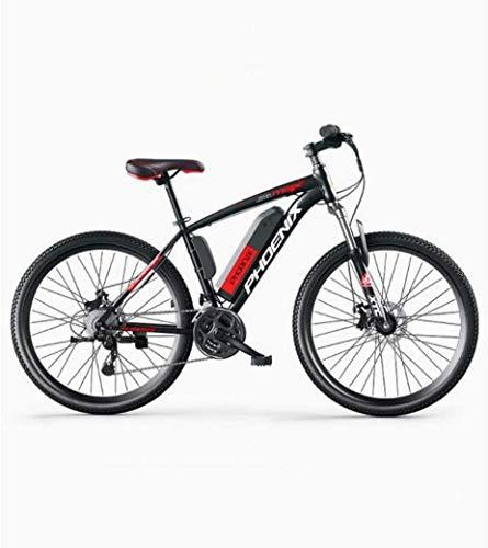 MU Bicicleta eléctrica de 26 pulgadas para adultos, All Terrain, 27 velocidades, 36 V y 50 km de distancia de Miglia Pure batería extraíble de iones de litio, B eléctrica 35 km / 70 km híbrido