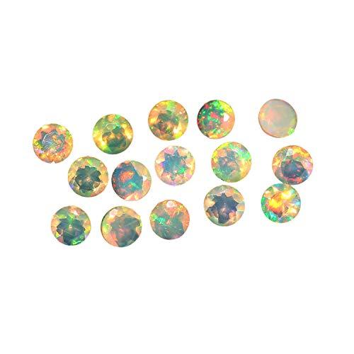 Natural White Welo Feuer Ethiopian opal AAA-Qualität 4 mm runde Form facettiert kalibrierte Größe lose Edelstein|Natur Ethiopian Welo opalo|Feuersteine ??für Schmuck machen