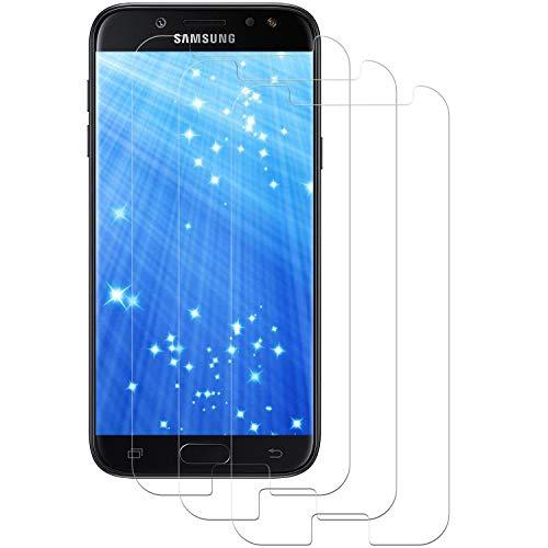 DOSMUNG Panzerglas für Samsung Galaxy J5 2017 [3 Stück], 9H Härte Panzerglasfolie Anti-Kratzen, Anti-Öl, Anti-Bläschen, Ultra Transparenz Full HD Schutzfolie für Galaxy J5 2017