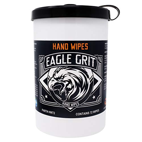 """Eagle Grit Heavy Duty 10""""x12"""" Cleaning Wipes - 72 Wipes Per Tub"""