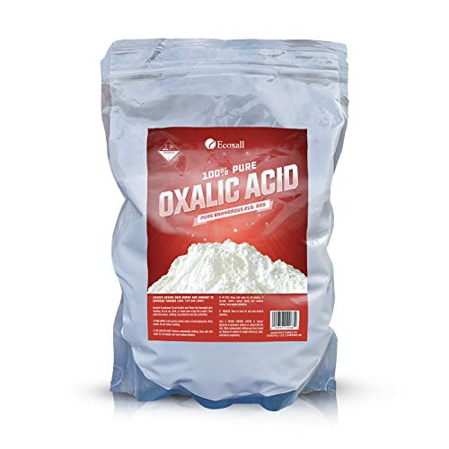 Ecoxall Chemicals - Number 1 - 100% Pure Oxalic Acid - Pure Anhydrous 2lb. Bag - Perfect for Rust Removal, Wood Stain Remover and Many More Effective Uses!