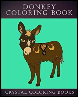 Donkey Coloring Book: 30 Simple Line Drawing Donkey Coloring Pages (Animal) (Volume 2)