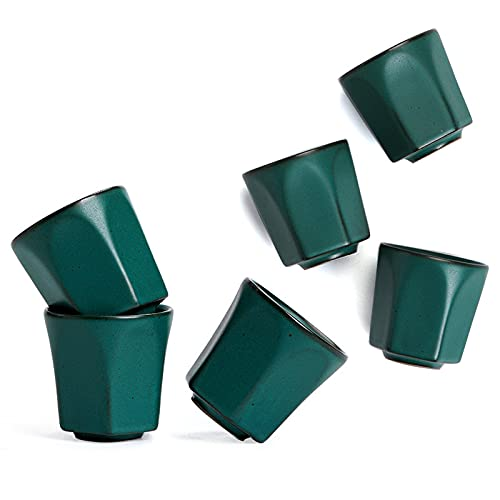 SCHSP 6 Piezas Juego de Tazas De Té De Cerámica De, Taza De Té Chino/japonés, Servicio De Té Chino Hecho A Mano Juego de Regalo Fácil de Limpiar y Mantener
