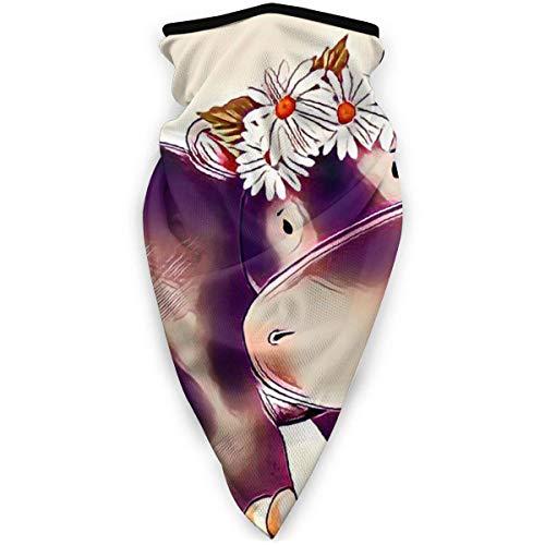 Mscara de hipoptamo con flores al aire libre para la boca, resistente al viento, mscara deportiva para esqu, bufanda para hombre y mujer