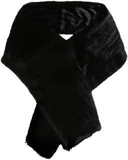 FDesigner Leiothrix Women's Long 1920 Faux Fur Shawl Bridal Wedding Fur Wraps and Shawls Faux Mink Shawl