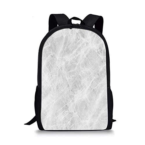 AOOEDM Backpack - Mochila Escolar con Estilo de mármol, Fondo Abstracto de Piedra de ónix en Tonos Pastel Suave con Imagen de Efectos Grunge Decorativa para niños, 11 'L x 5' W x 17 'H