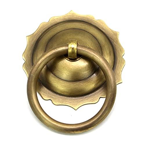 1 Uds.Diámetro5,8 cm latón puerta de madera manija de la puerta cajón muebles perilla armario zapatero gabinete cono tirador hardware-latón primario