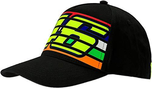 Valentino Rossi Herren BB Cap Stripes BK Baseballkappe, Schwarz, Einheitsgröße